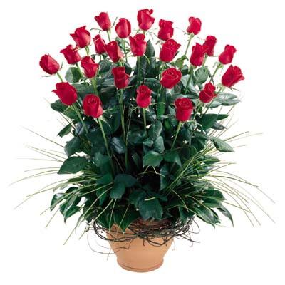 Niğde internetten çiçek siparişi  10 adet kirmizi gül cam yada mika vazo
