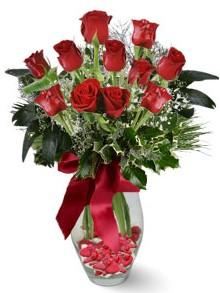 9 adet gül  Niğde çiçek , çiçekçi , çiçekçilik  kirmizi gül