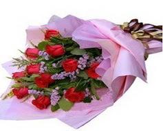 11 adet kirmizi güllerden görsel buket  Niğde güvenli kaliteli hızlı çiçek