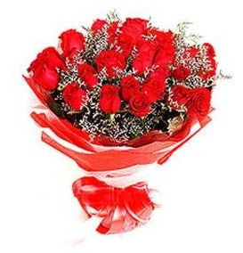 Niğde 14 şubat sevgililer günü çiçek  12 adet kırmızı güllerden görsel buket