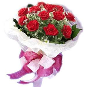 Niğde İnternetten çiçek siparişi  11 adet kırmızı güllerden buket modeli
