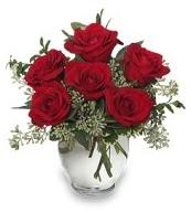 Vazo içerisinde 5 adet kırmızı gül  Niğde çiçekçi telefonları