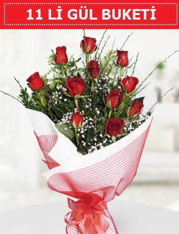 11 adet kırmızı gül buketi Aşk budur  Niğde güvenli kaliteli hızlı çiçek