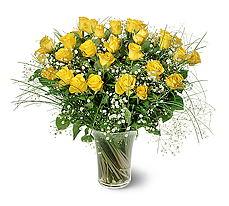 Niğde çiçek satışı  15 adet sarigül mika yada cam vazoda