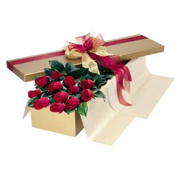 Niğde çiçekçiler  10 adet kutu özel kutu