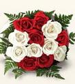 Niğde çiçek gönderme sitemiz güvenlidir  10 adet kirmizi beyaz güller - anneler günü için ideal seçimdir -