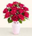 Niğde çiçek gönderme  10 kirmizi gül cam yada mika vazo tanzim