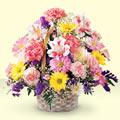 Niğde internetten çiçek siparişi  sepet içerisinde gül ve mevsim