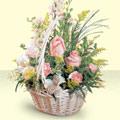 Niğde çiçek siparişi vermek  sepette pembe güller