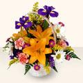 Niğde çiçek siparişi vermek  sepet içinde karisik çiçekler