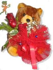 oyuncak ayi ve gül tanzim  Niğde ucuz çiçek gönder