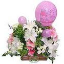balon ve çiçeklerle tanzim  Niğde çiçek , çiçekçi , çiçekçilik