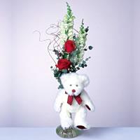 2 adet gül ve panda özel  Niğde çiçekçi telefonları