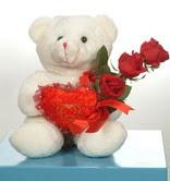 3 adetgül ve oyuncak   Niğde çiçek servisi , çiçekçi adresleri