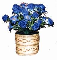 yapay mavi çiçek sepeti  Niğde çiçekçiler