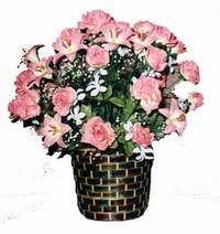 yapay karisik çiçek sepeti  Niğde cicekciler , cicek siparisi