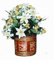 yapay karisik çiçek sepeti   Niğde çiçekçiler