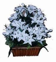 yapay karisik çiçek sepeti   Niğde çiçek siparişi sitesi