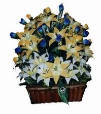 yapay karisik çiçek sepeti   Niğde online çiçekçi , çiçek siparişi