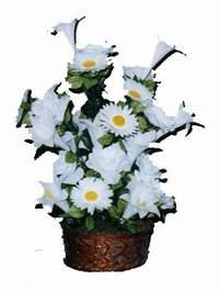yapay karisik çiçek sepeti  Niğde çiçekçi mağazası