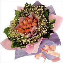 11  adet  gül ve   elyaflar   Niğde çiçekçi telefonları