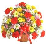 karisik renkli çiçek sepet   Niğde güvenli kaliteli hızlı çiçek