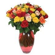 51 adet gül ve kaliteli vazo   Niğde güvenli kaliteli hızlı çiçek