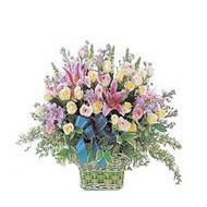 sepette kazablanka ve güller   Niğde online çiçekçi , çiçek siparişi