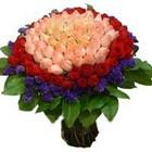 71 adet renkli gül buketi   Niğde çiçek yolla
