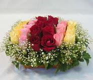 15 adet reprenkli gül sepeti   Niğde yurtiçi ve yurtdışı çiçek siparişi