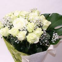 Niğde çiçek gönderme  11 adet sade beyaz gül buketi