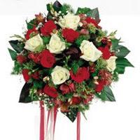 Niğde çiçek yolla  6 adet kirmizi 6 adet beyaz ve kir çiçekleri buket