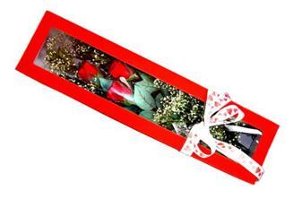 Niğde çiçek gönderme  Kutuda 3 adet gül