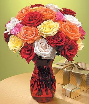 Niğde online çiçek gönderme sipariş  13 adet renkli gül
