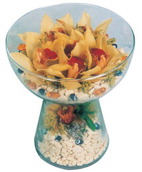 Niğde çiçek satışı  Cam içerisinde 4 adet kandil orkide