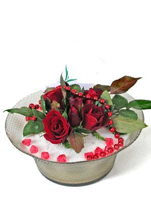Niğde çiçekçi mağazası  EN ÇOK Sevenlere 7 adet kirmizi gül mika yada cam tanzim
