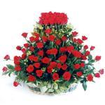 Niğde anneler günü çiçek yolla  41 adet kirmizi gülden sepet tanzimi
