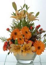 Niğde uluslararası çiçek gönderme  cam yada mika vazo içinde karisik mevsim çiçekleri