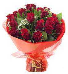 Niğde online çiçek gönderme sipariş  11 adet kimizi gülün ihtisami buket modeli