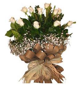 Niğde çiçek yolla , çiçek gönder , çiçekçi   9 adet beyaz gül buketi