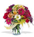 Niğde çiçek gönderme sitemiz güvenlidir  cam yada mika vazo içerisinde karisik kir çiçekleri