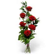 Niğde internetten çiçek siparişi  mika yada cam vazoda 6 adet essiz gül
