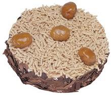 Kestahaneli yas pasta 4 ile 6 kisilik pasta  Niğde çiçek satışı