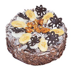 Muzlu çikolatali yas pasta 4 ile 6 kisilik   Niğde internetten çiçek siparişi