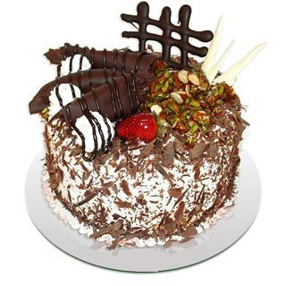 4 ile 6 kisilik çikolatali yas pasta  Niğde anneler günü çiçek yolla