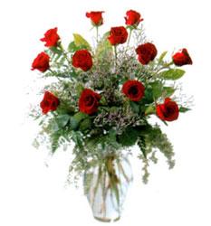 Vazo içerisinde 11 kirmizi gül  Niğde çiçekçi mağazası