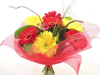 9 adet gerbera çiçeklerinden buket  Niğde İnternetten çiçek siparişi