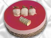 pasta siparisi 4 ile 6 kisilik yas pasta çilekli yaspasta  Niğde uluslararası çiçek gönderme