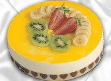 pasta gönderme 4 ile 6 kisilik yas pasta muzlu yaspasta  Niğde 14 şubat sevgililer günü çiçek