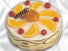 lezzetli pasta satisi 4 ile 6 kisilik yas pasta portakalli pasta  Niğde çiçekçi telefonları